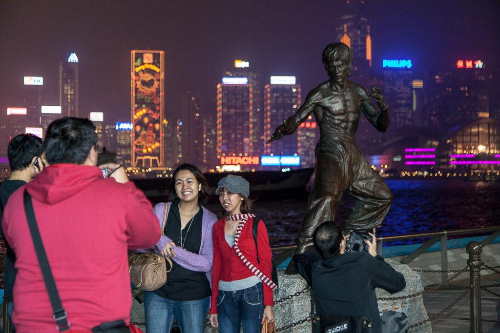 Bruce Lee, Hongkong, strandpromenad