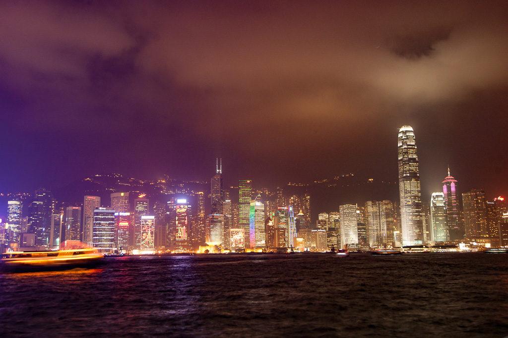hongkong, skyline, skyskrapa