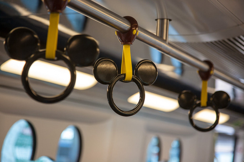 handtag, tunnelbana, Disneyland