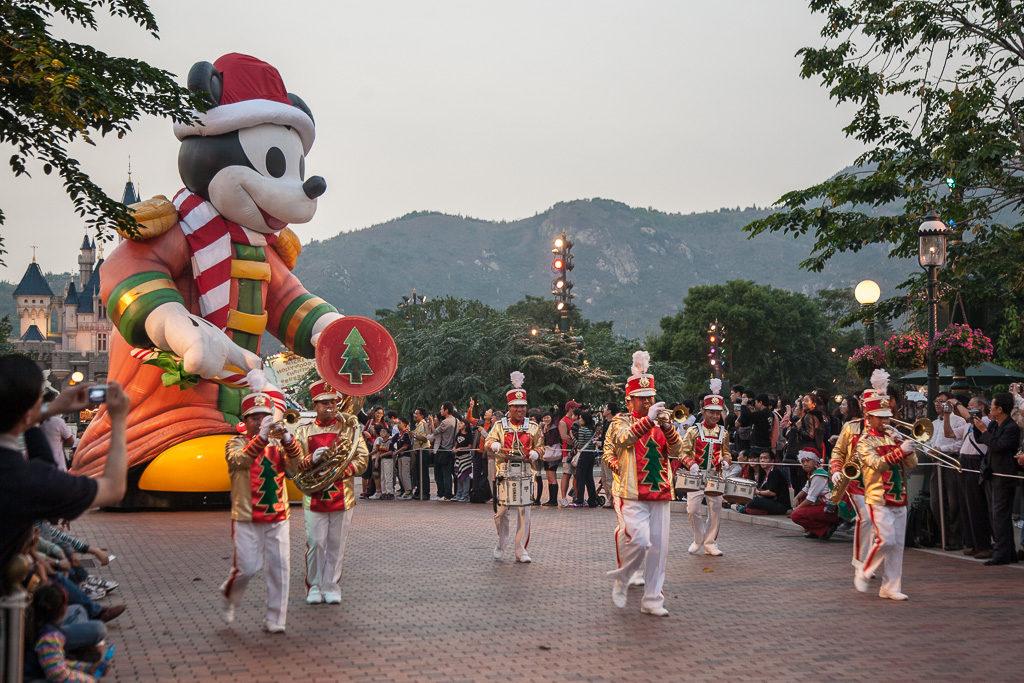 Julparad, Disneyland, Hongkong